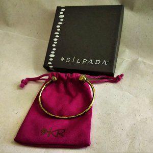 Silpada Brass  Open Cuff with Swarovski Crystals